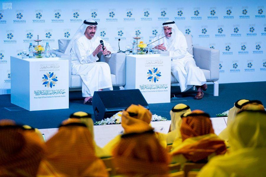 سمو الشيخ عبدالله بن زايد يزور معهد الأمير سعود الفيصل للدراسات الدبلوماسية