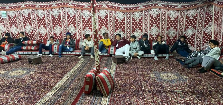 15 يتيما يشاركون في المخيم الشتوي بأرامكو
