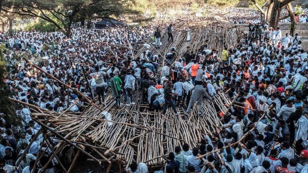 سقوط عشرات القتلى والجرحي في انهيار منصة أثناء مهرجان بأثيوبيا