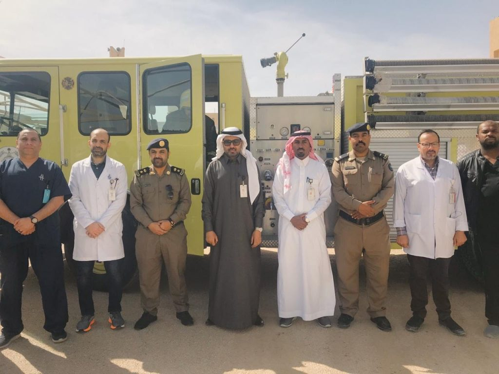 بالتعاون مع الدفاع المدني: مستشفى الدلم يقيم فرضية حريق وهمي للوقوف على الاستعدادات