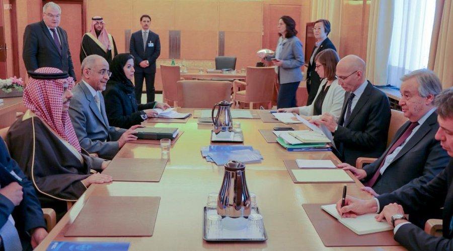 وزير الخارجية يلتقي الأمين العام للأمم المتحدة