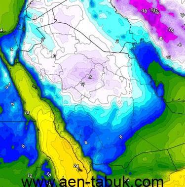 موجة برد شديدة تجتاح المملكة منتصف الأسبوع الحالي