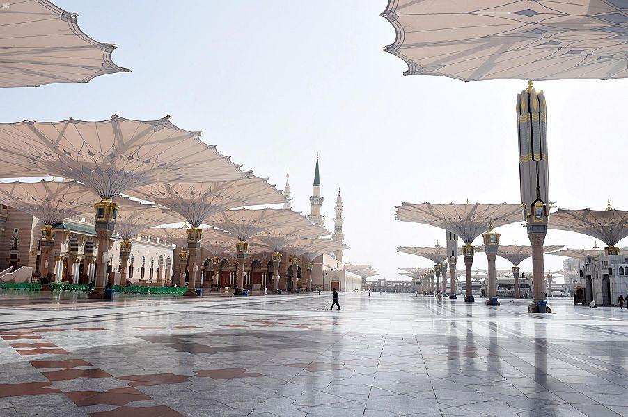 رئاسة المسجد النبوي تعزز الإجراءات الاحترازية لمكافحة فيروس كورونا