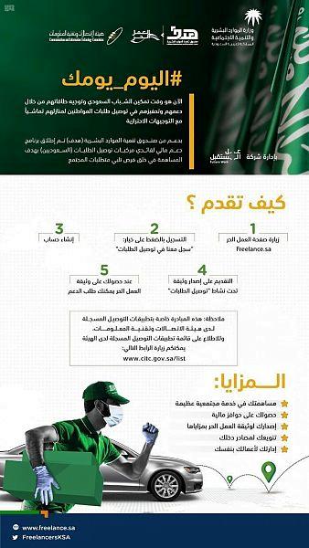 """""""هدف"""" يطلق مبادرة جديدة لدعم السعوديين العاملين في توصيل الطلبات من خلال التطبيقات"""