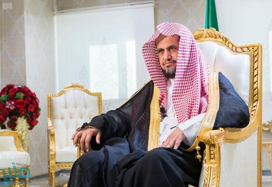 الشيخ المعجب يعايد منسوبي النيابة العامة عن بُعد ويطلع على تطبيق الإجراءات الاحترازية في النيابة