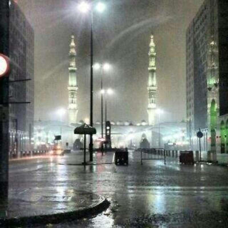 هطول أمطار خفيفة على المدينة المنورة