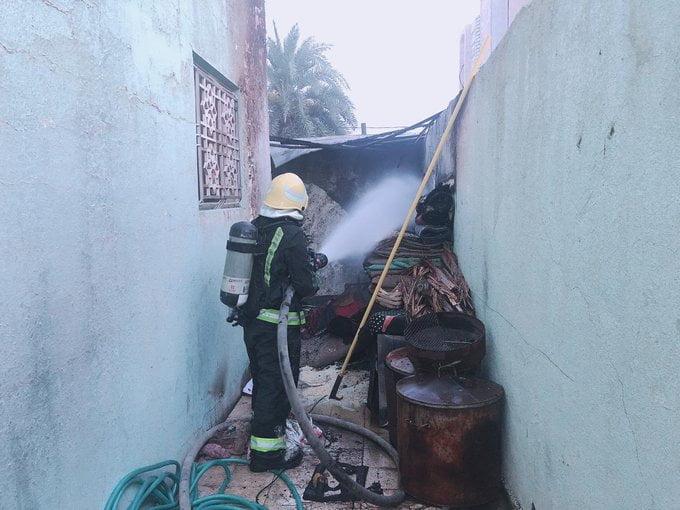 نجران: إصابة مقيم وطفلين أثر حريق بمستودع خارجي لمنزل بحي الفيصلية