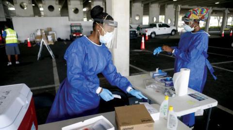 أميركا تسجل 63 ألف إصابة في يوم… وعودة المخاوف من نقص المعدات الطبية