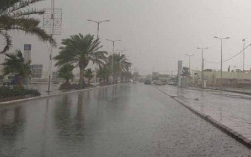 أمطار رعدية من متوسطة الى غزيرة مصحوبة برياح نشطة على مناطق من المملكة