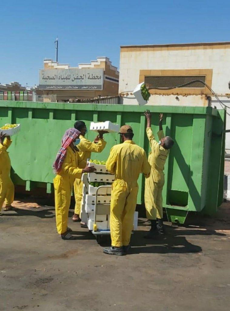 أمانة تبوك تحول دون دخول 500 كجم من الفلفل الرومي لأسواق المنطقة لاحتوائها على بقايا مبيدات