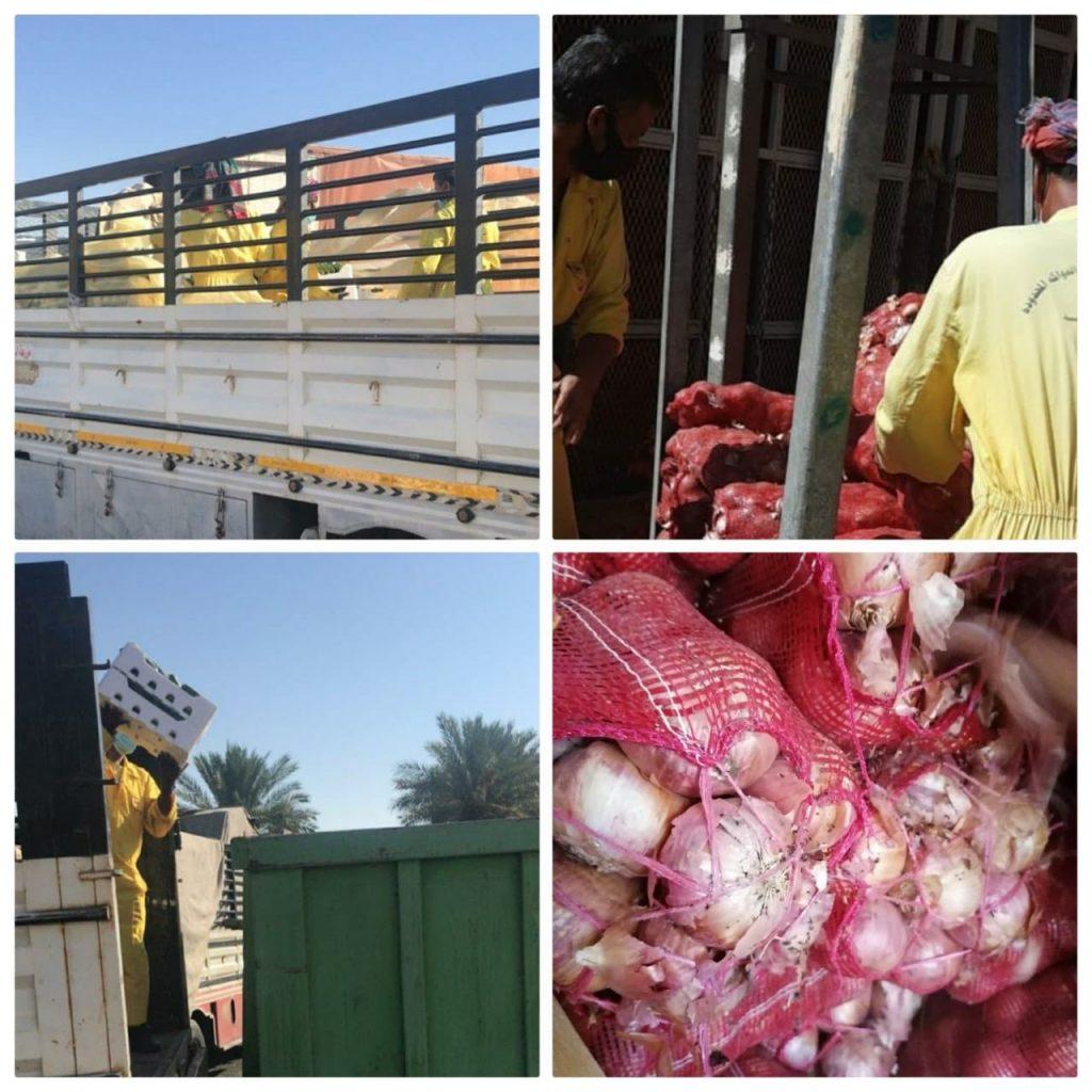 """أمانة تبوك تصادر وتتلف مايفوق ٣ أطنان من محصولي """" الخيار والبصل """""""