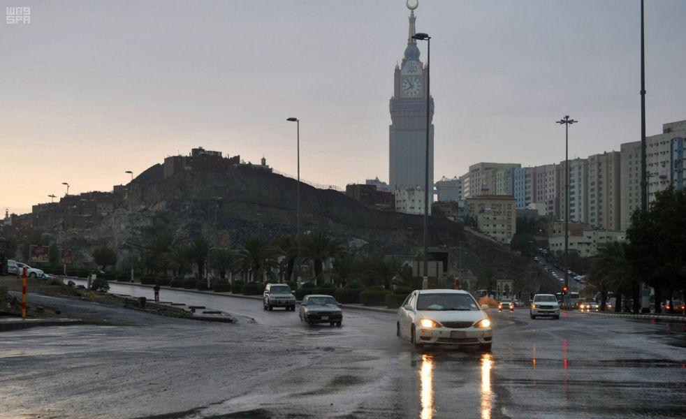 """""""الأرصاد"""" تنبه بهطول امطار رعدية على عدد من محافظات منطقة مكة المكرمة"""