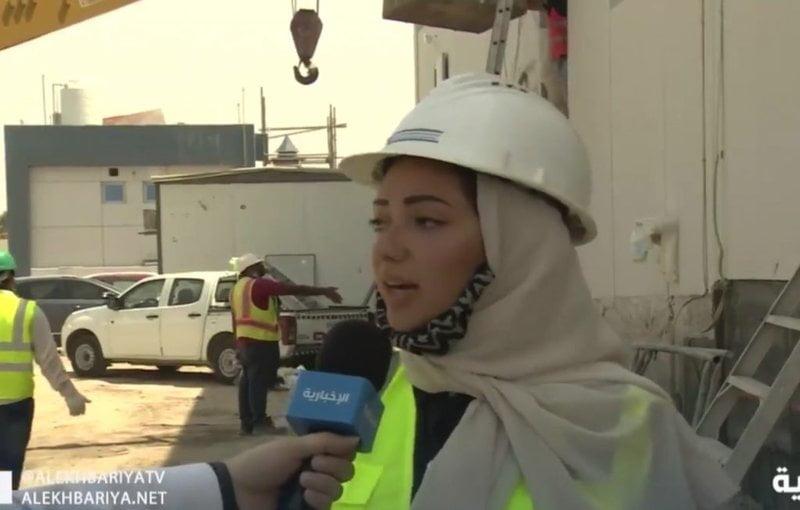 مهندسة سعودية تباشر مبنى تحت الإنشاء.. وتحكي عن تجربتها الميدانية