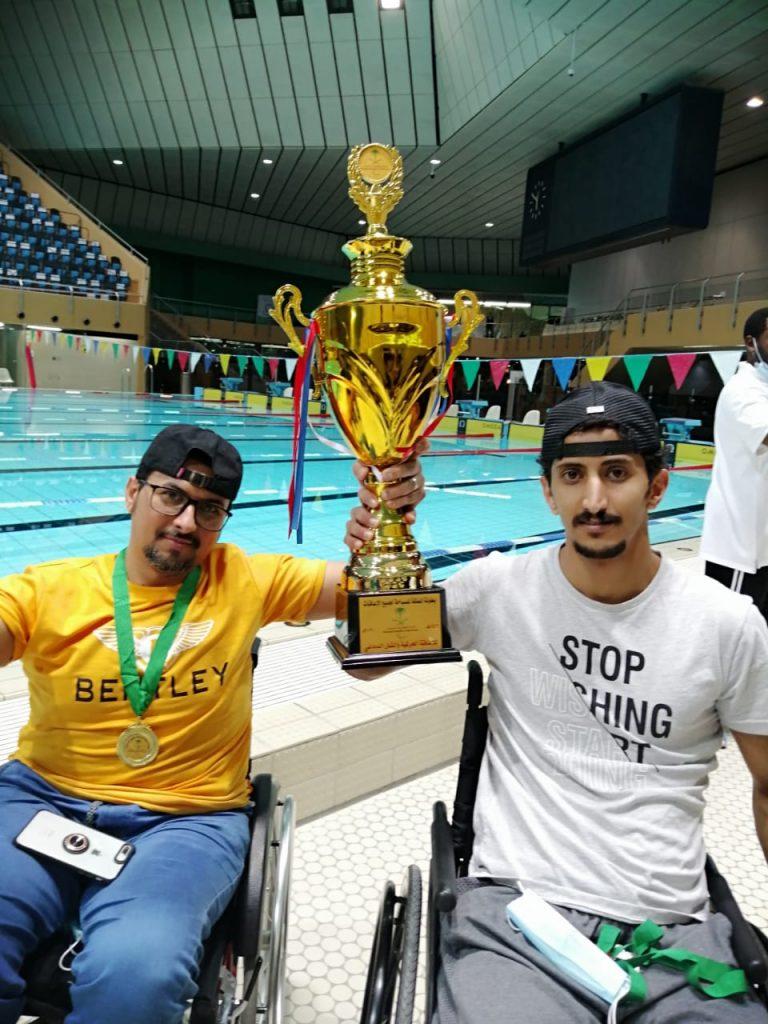"""""""عسير """" لذوي الإعاقة بطلا للسباحة على مستوى المملكة"""