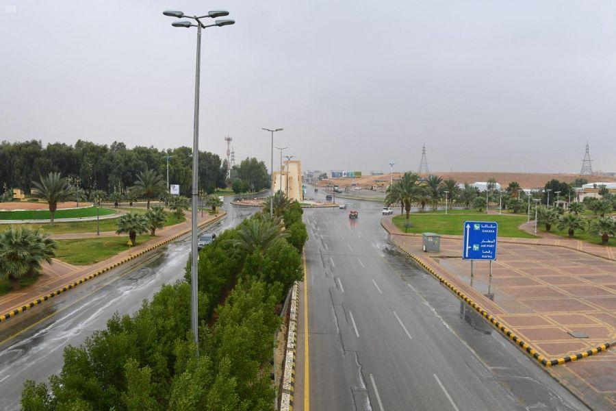 أمطار على مدينة عرعر