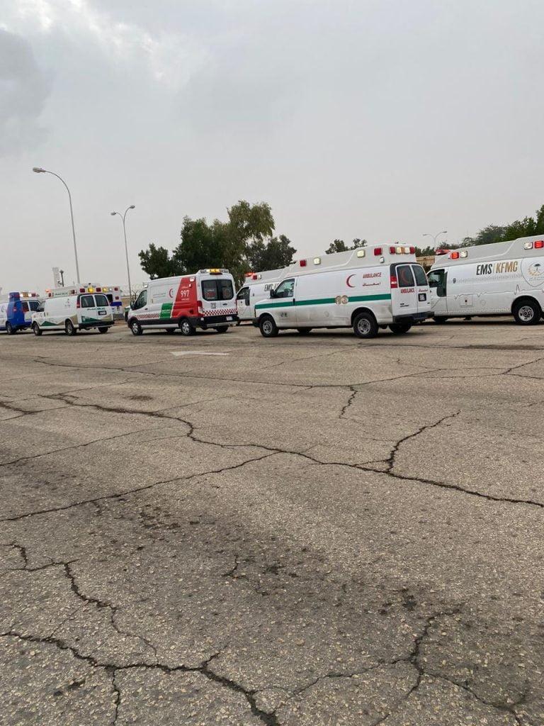 """""""صحة الرياض"""" تنفذ فرضية انفجار محرك طائرة بمطار الملك خالد الدولي"""