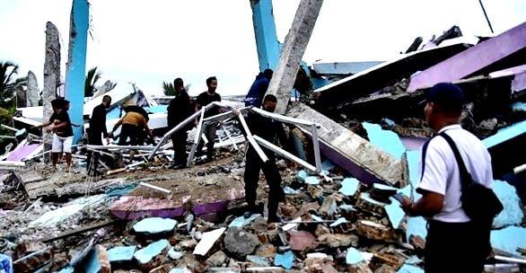 هزة ارتدادية بقوة 5 درجات في أعقاب زلزال اندونيسيا