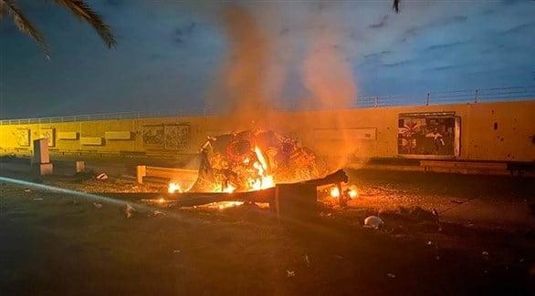 قصف صاروخي على مطار بغداد