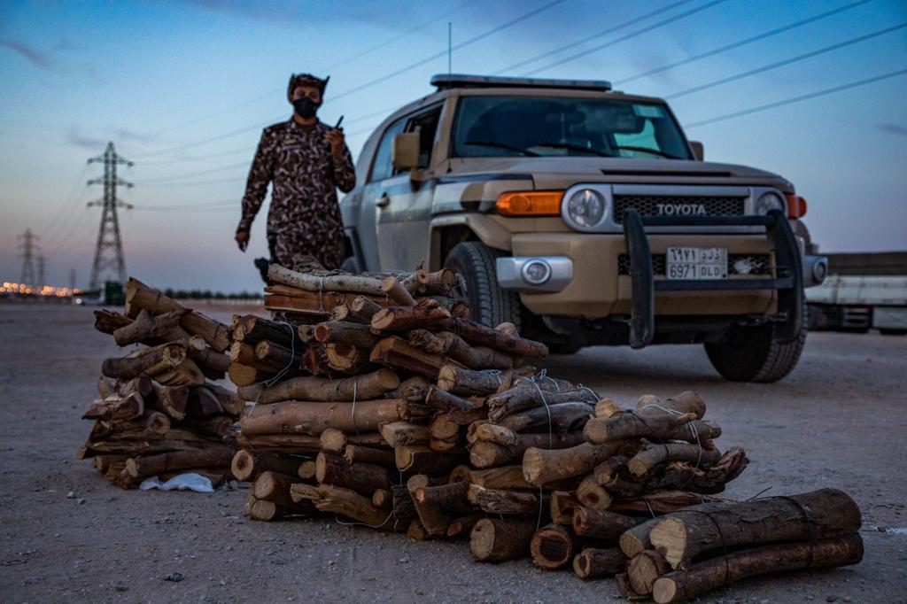 القوات الخاصة للأمن البيئي تضبط أكثر من 12 طناً من الحطب المحلي في مدينة الرياض