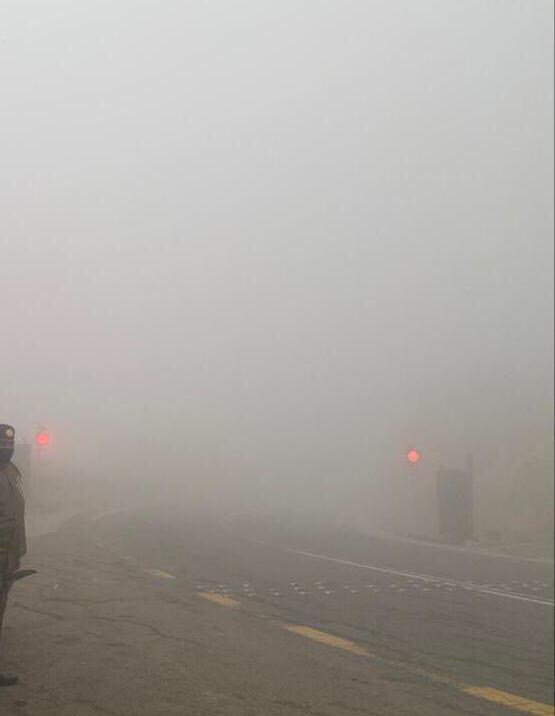 مرور الباحة يحذر قائدي المركبات من الضباب الكثيف