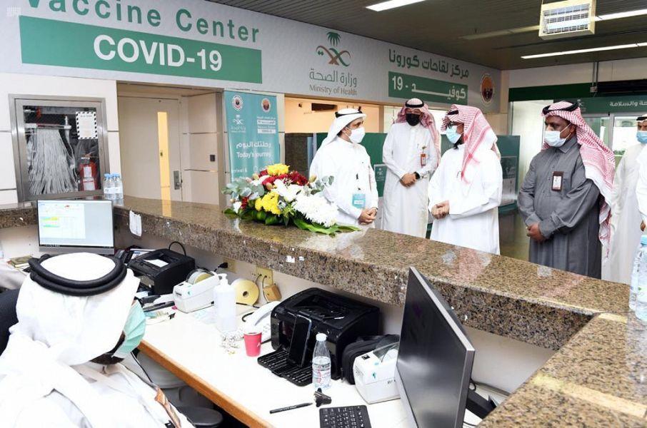 تدشين حملة التطعيم ضد فيروس كورونا المستجد في الهيئة الملكية بينبع