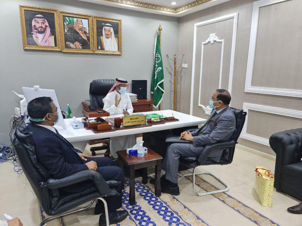 محافظ جزر فرسان يستقبل سفير بنجلاديش لدى المملكة