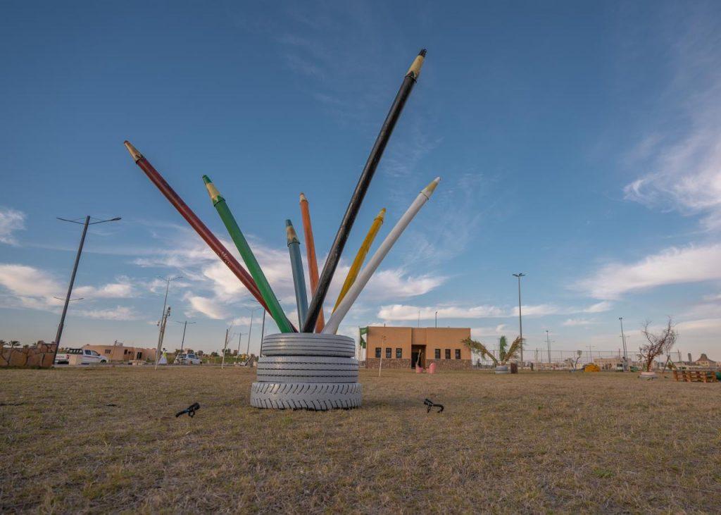 أمين الجوف يدشن حديقة إعادة التدوير الصديقة للبيئة