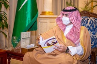 أمير منطقة الجوف يستقبل رئيس وأعضاء مجلس إدارة نادي القلعة بسكاكا