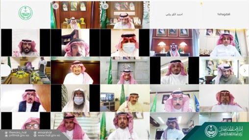 أمير حائل يرأس جلسة المجلس الأولى بدورة الانعقاد الأولى للعام المالي 2021م 