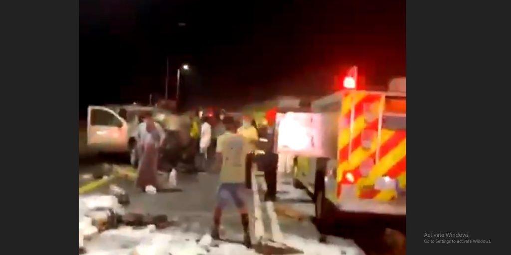 فيديو.. وفاة شخص وإصابة 6 آخرين إثر حادث تصادم في عسير