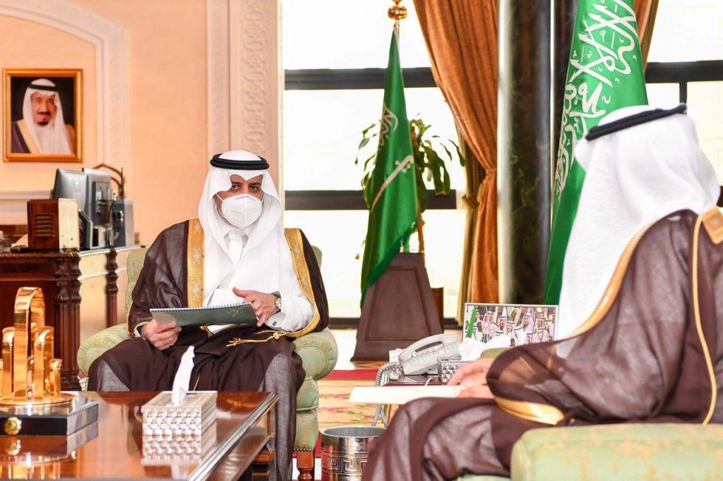 أمير تبوك يطلع على تقرير عن انجازات وأعمال فرع وزارة التجارة بالمنطقة