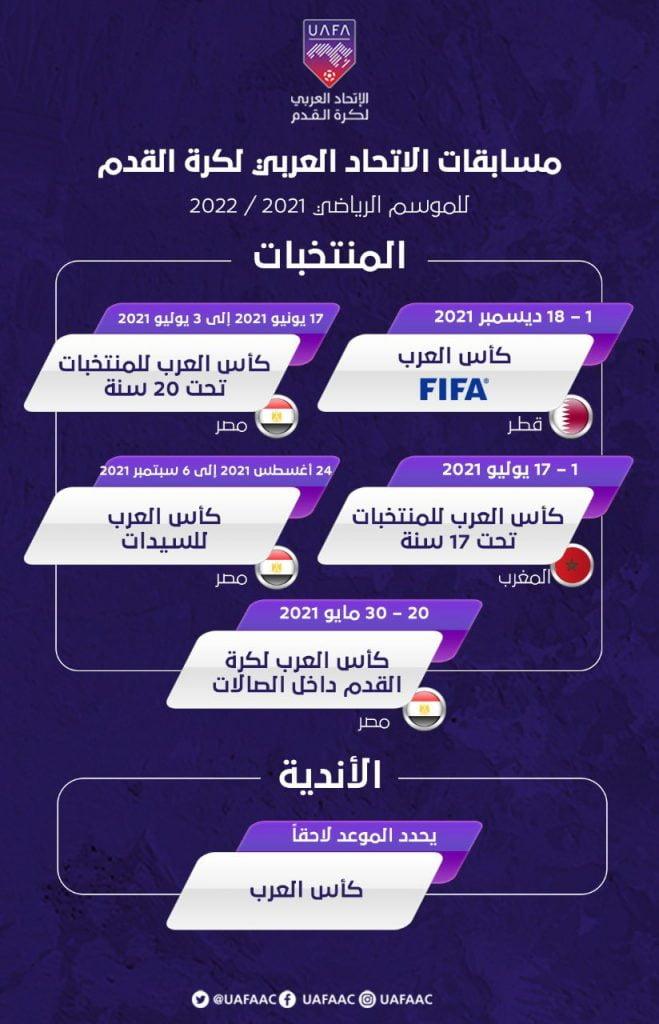 الاتحاد العربي يُعلن عن مسابقاته للموسم المقبل