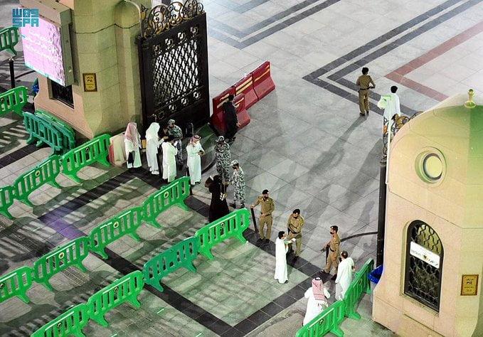 جهود مكثفة لتطبيق الإجراءات الاحترازية لضمان أمن وسلامة قاصدي المسجد النبوي