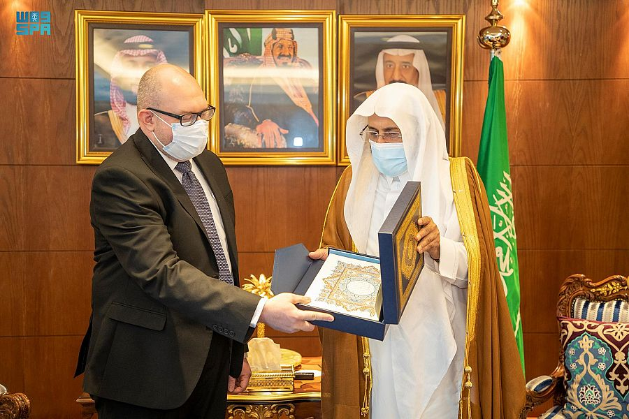 وزير الشؤون الإسلامية يستقبل السفير البوسني لدى المملكة