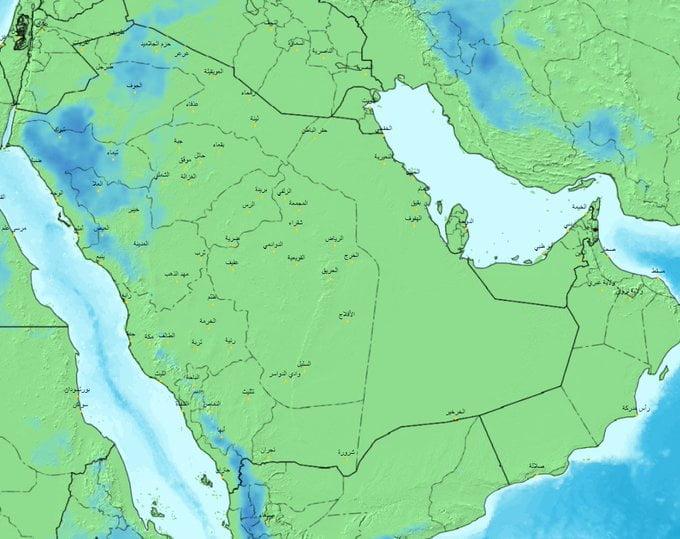 الحصيني : هطول أمطار غزيرة وحبات بَرَد على هذه المناطق اليوم
