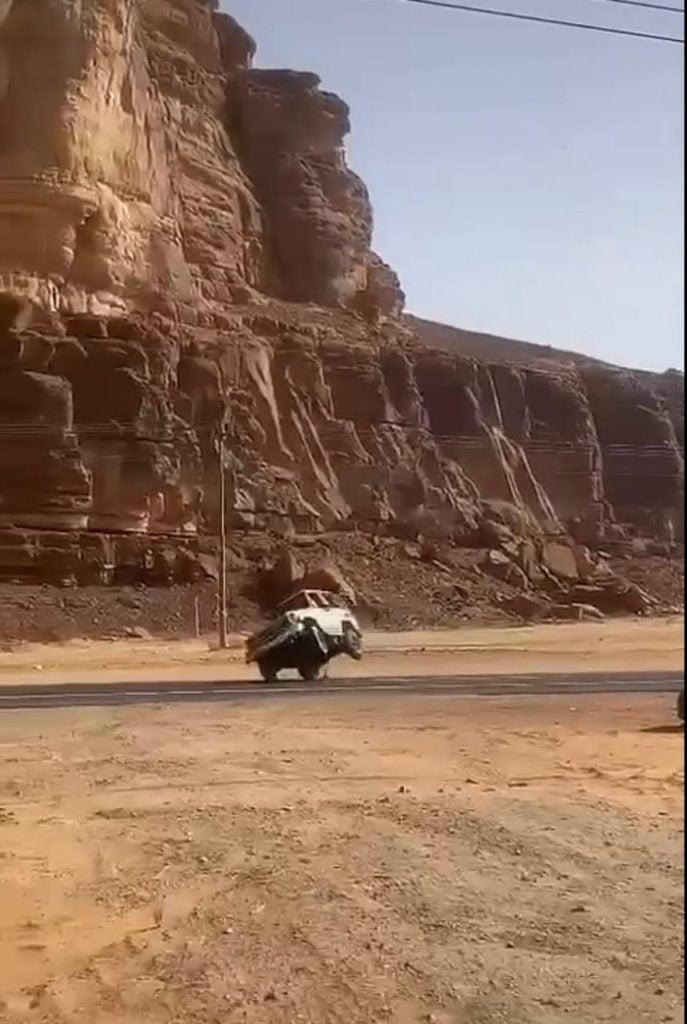 مرور محافظة العلا يضبط قائد مركبة مارس التفحيط بالطرق العامة