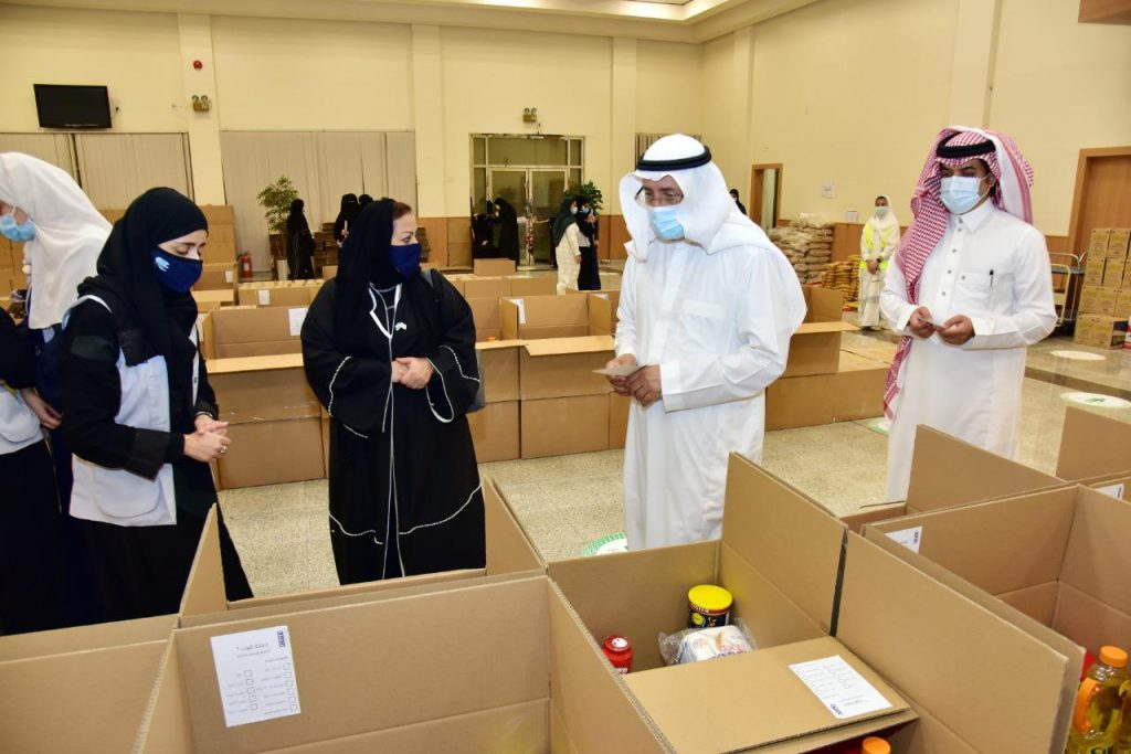 جامعة الإمام عبد الرحمن توزع 2000 سلة غذائية للأسر في المنطقة الشرقية خلال رمضان
