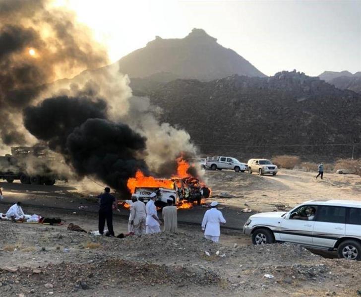 حـادث مروّع في نجران يُسفر عن وفاة وإصابة 8 أشخاص