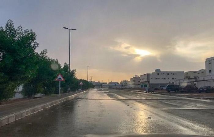 أمطار رعدية مصحوبة بزخات من البرد ونشاط في الرياح السطحية المثيرة للأتربة والغبار على مناطق من المملكة