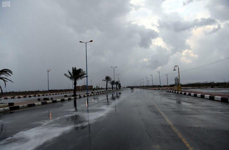 أمطار رعدية على منطقة الباحة