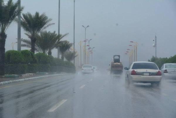 الأرصاد تتوقع هطول أمطار رعدية مصحوبة بزخات برد على أربع مناطق
