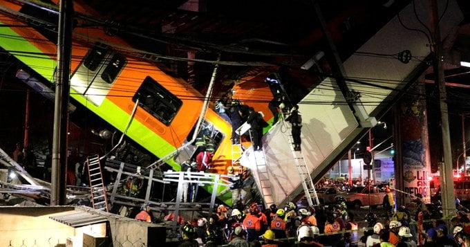 المكسيك.. مصرع 15 وإصابة 70 في انهيار جسر لمترو العاصمة