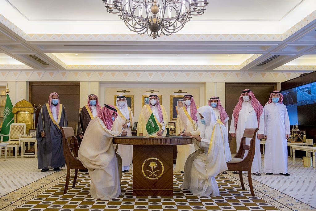 أمير القصيم يرعى توقيع اتفاقية بين جمعية مساجد والتدريب التقنية والمهني