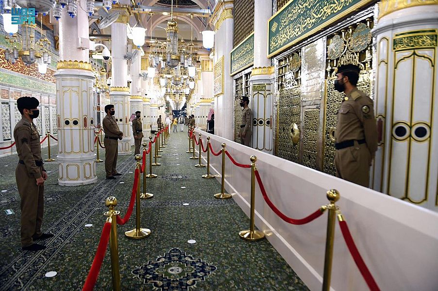 القوة الخاصة لأمن المسجد النبوي .. جهود ميدانية مكثفة في خدمة قاصدي المسجد النبوي
