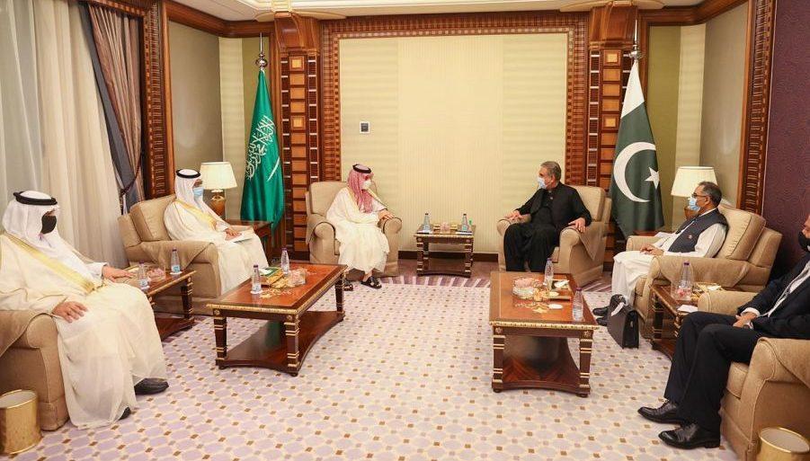 وزير الخارجية يلتقي وزير الخارجية الباكستاني