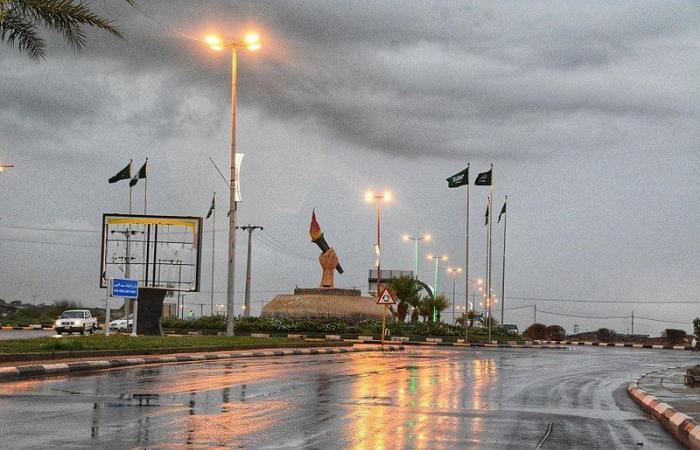 الأرصاد : أمطار متوسطة إلى غزيرة على منطقة جازان