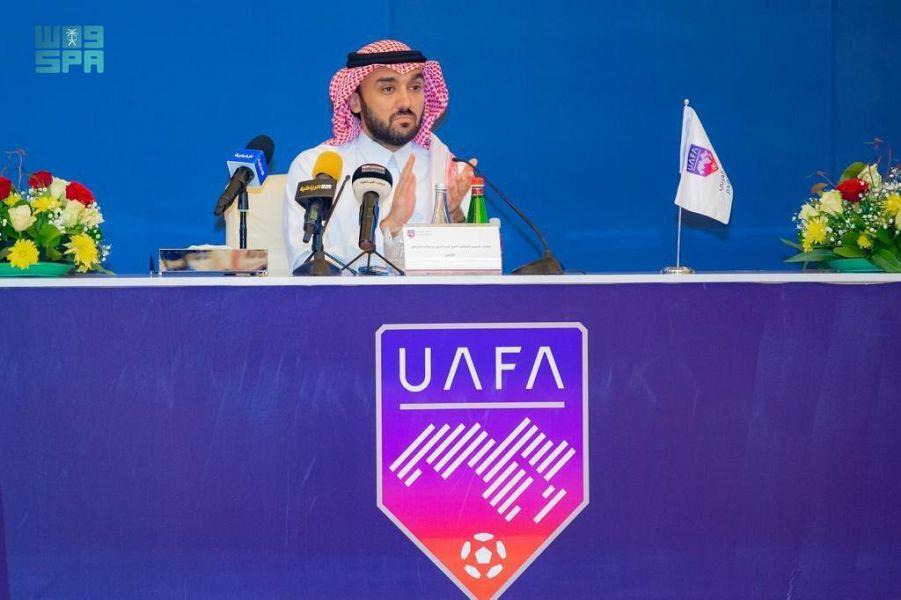 الجمعية العمومية للاتحاد العربي لكرة القدم تنصّب الأمير عبدالعزيز بن تركي رئيساً لمجلس الاتحاد