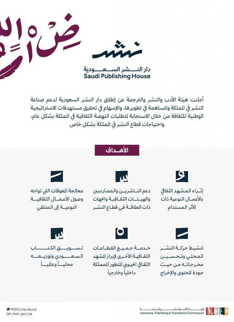 هيئة الأدب والنشر والترجمة تطلق دار النشر السعودية