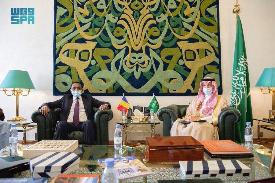 ولي العهد يتلقى رسالة خطية من رئيس المجلس العسكري الانتقالي التشادي
