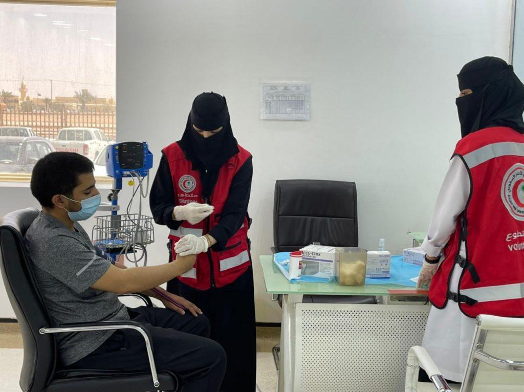 الهلال الأحمر بالحدود الشمالية ينظم حملة للتبرع بالدم
